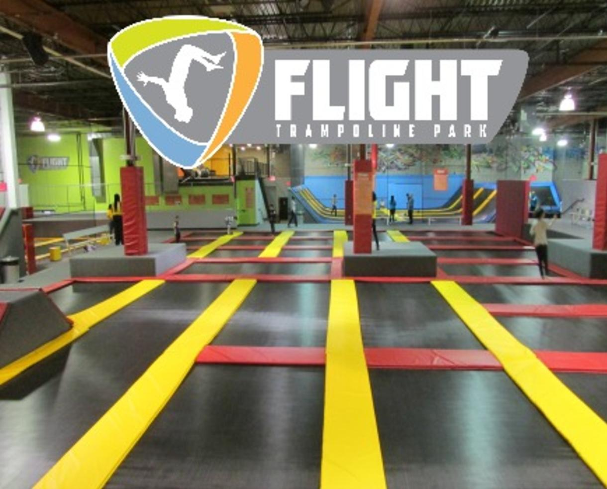 Two 60-Minute Open Jump Passes to Flight Trampoline Park