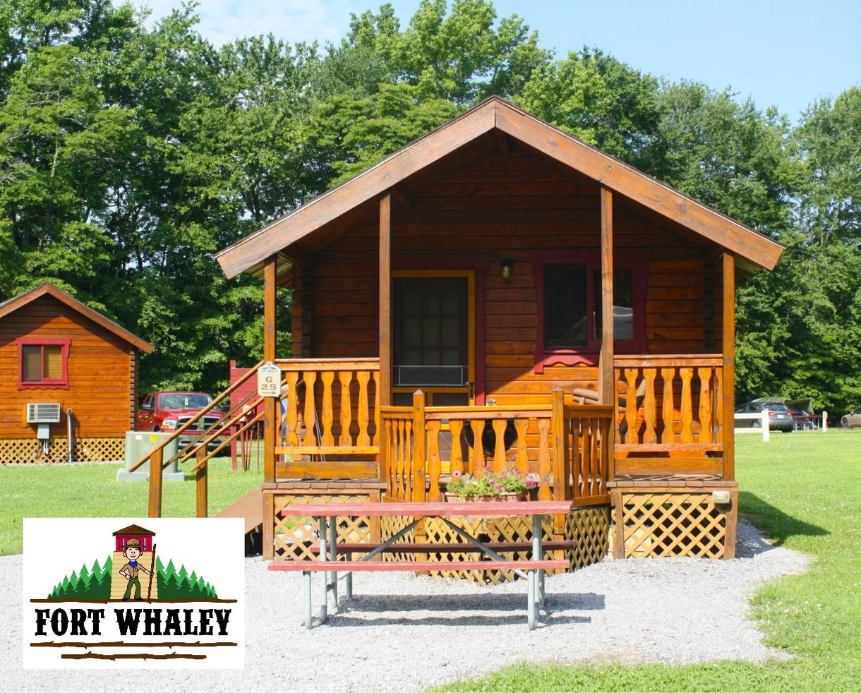 2-Night Stay in a Barebones Cabin at Fort Whaley, Valid Sundays-Thursdays ONLY through October 2018