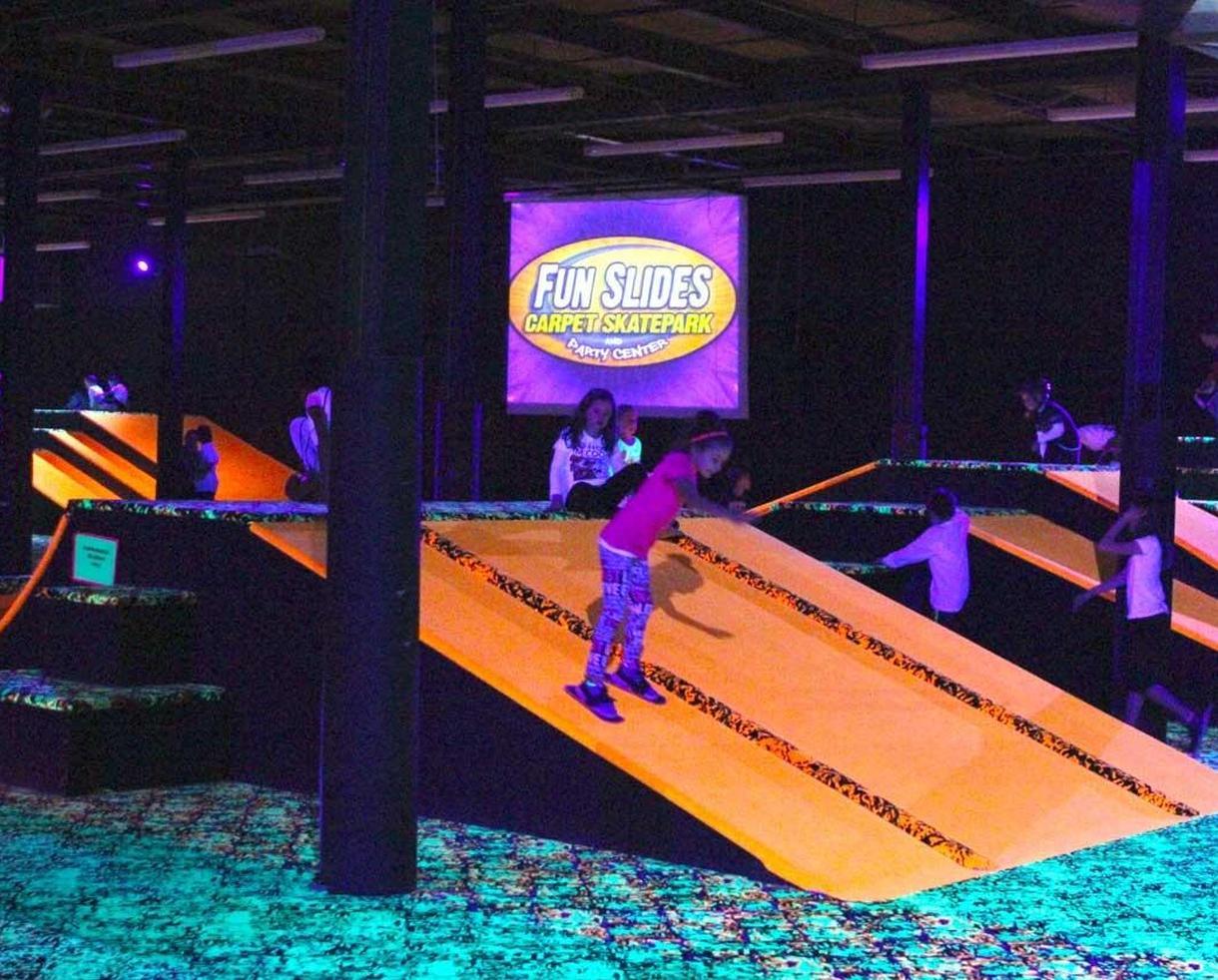 Fun Slides Carpet Skatepark and Party Center Three-Hour Carpet Skate Packages