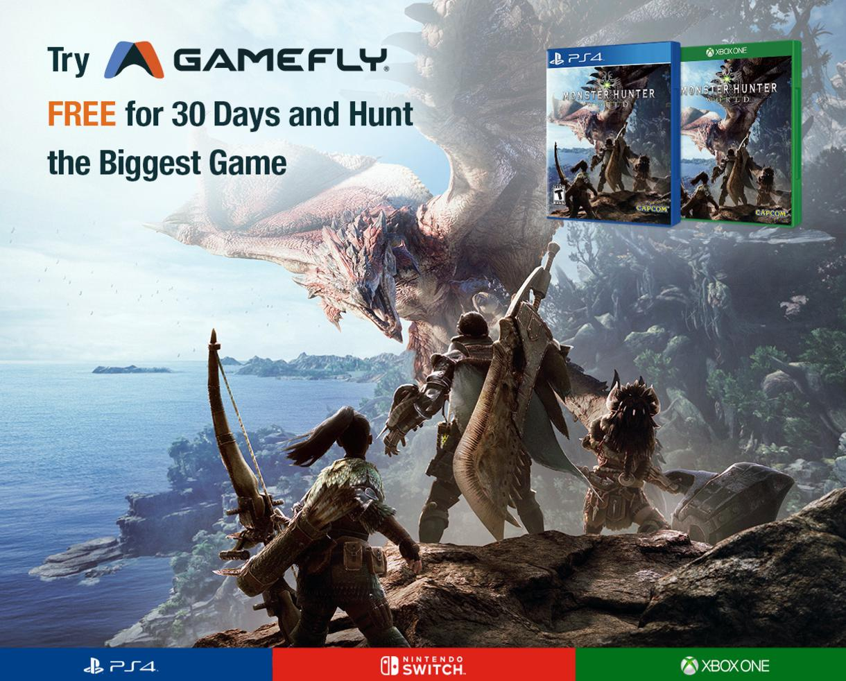 30 Days of FREE Video Game Rentals From GameFly!
