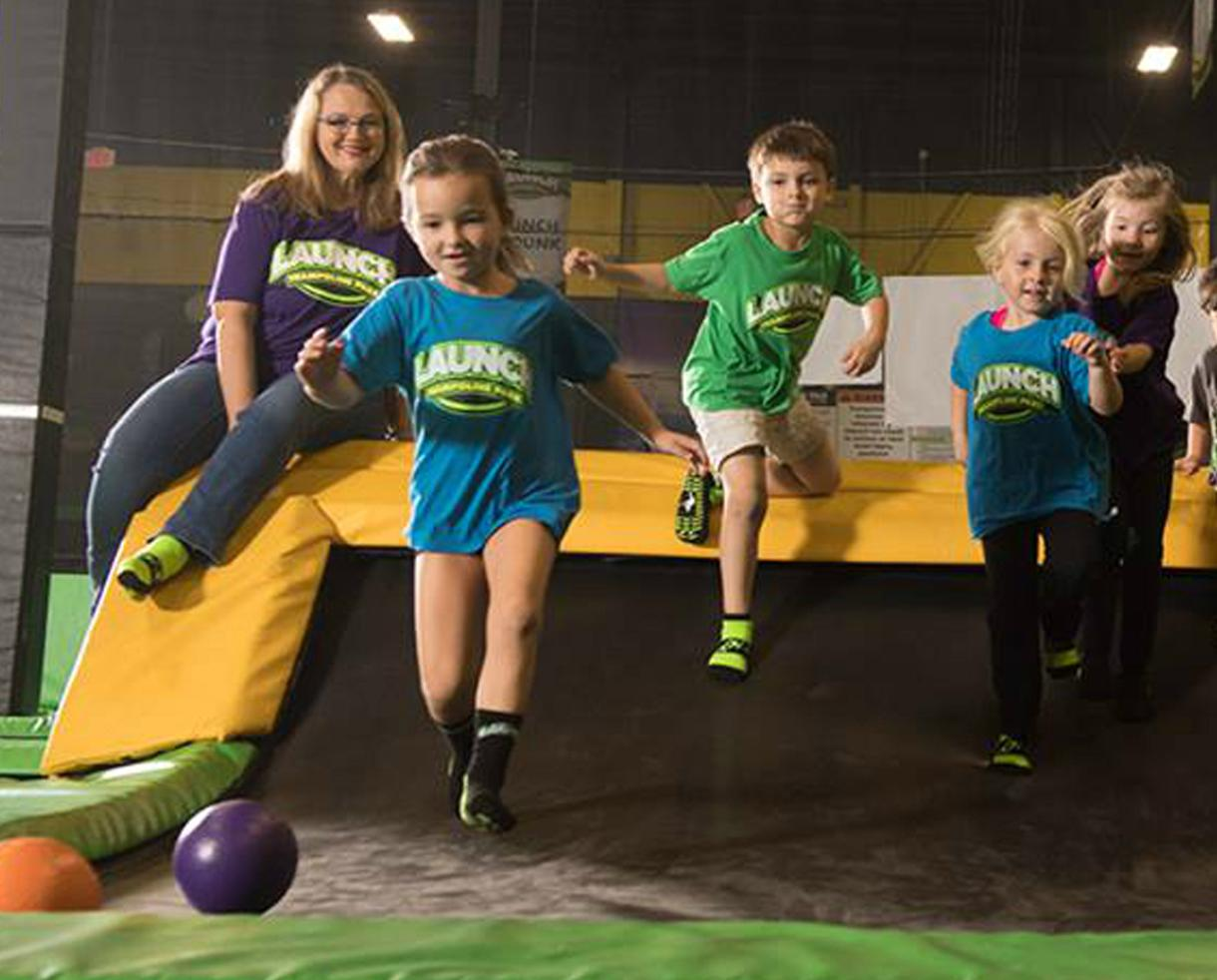One 60-Minute Open Jump Pass at Launch Trampoline Park Herndon - Valid Any Day