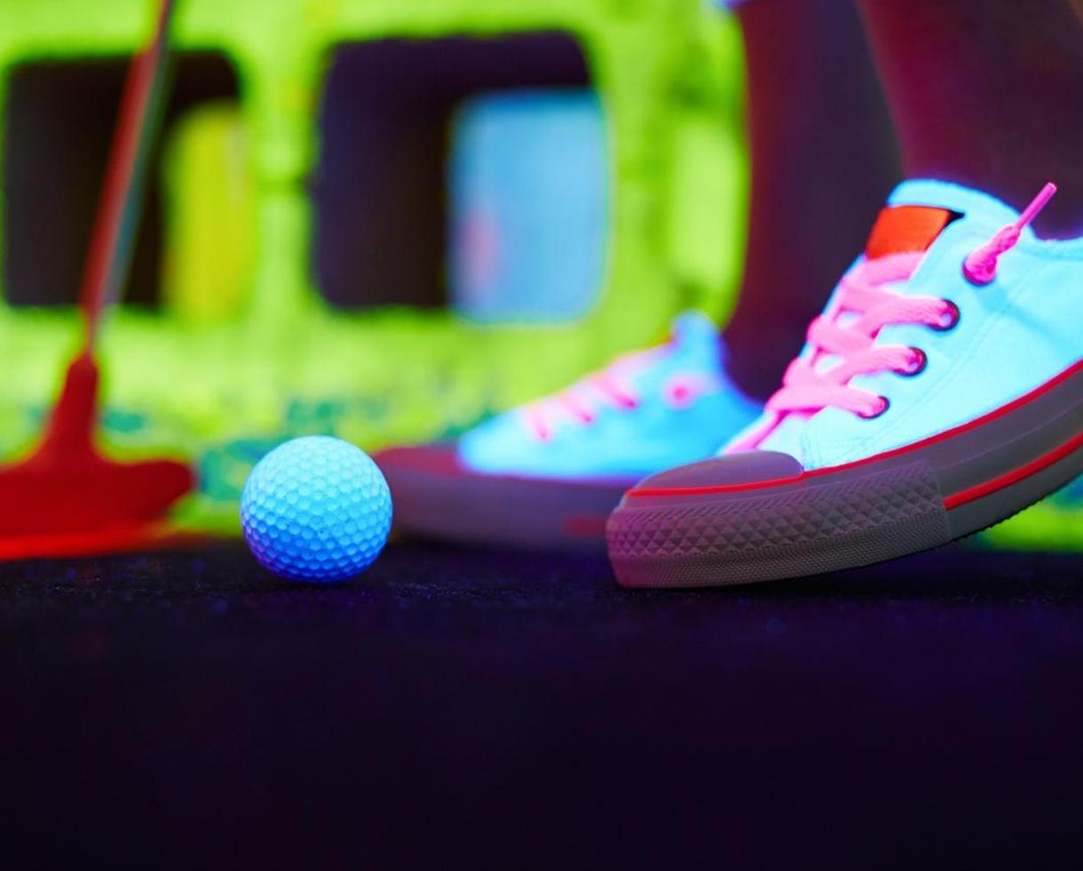 Three Rounds of Indoor Glow Golf at Glowgolf