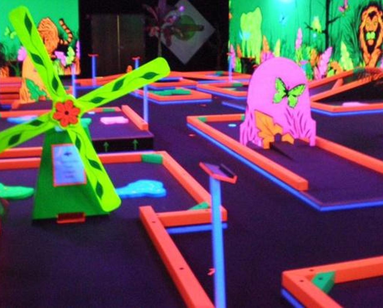 Mini Golf + Optional Laser Maze at Glowgolf Exton Square Mall