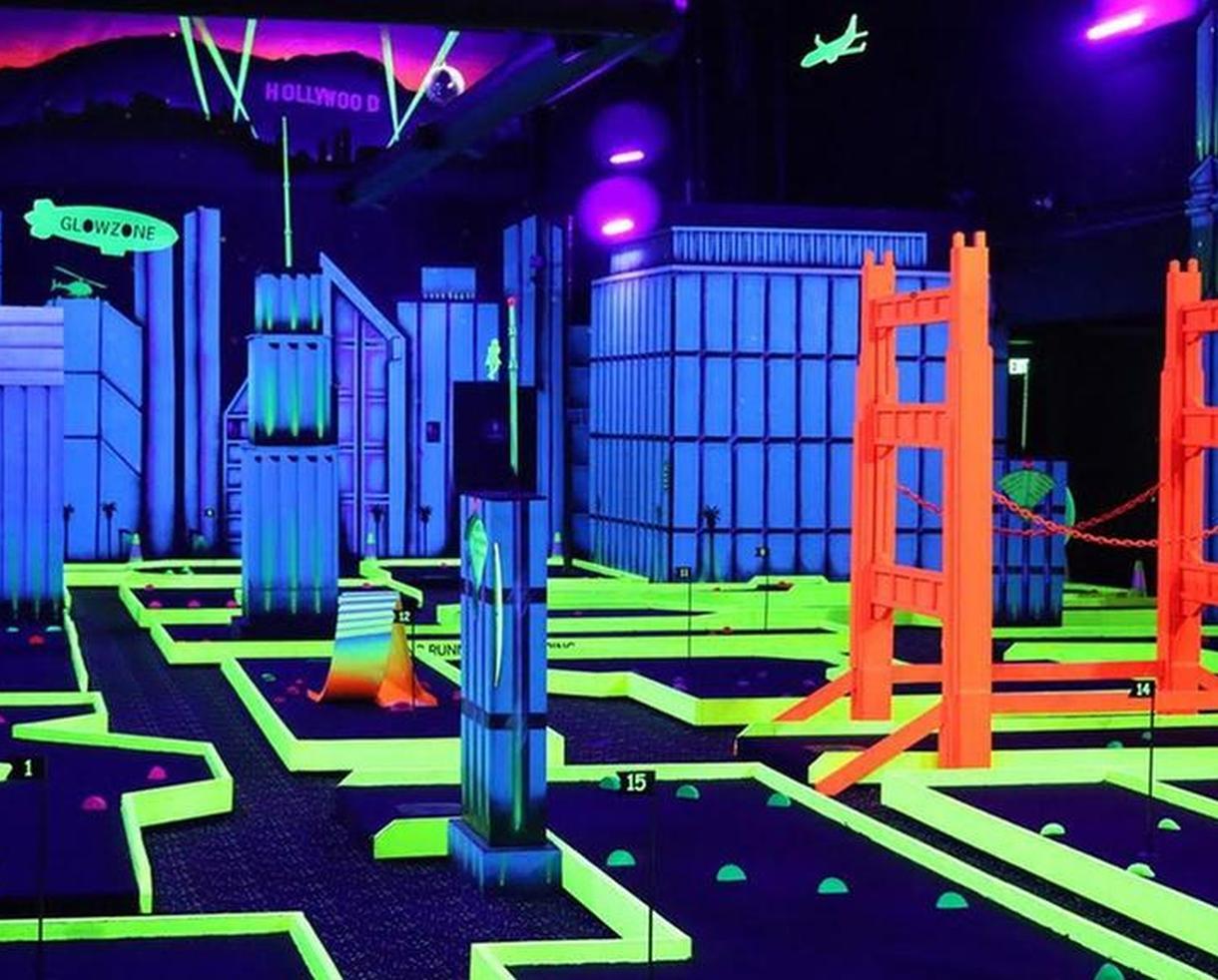 Glowzone Interactive Activites - Bazooka Ball, Ninja Warrior Course, Kids Jungle Gym & More!