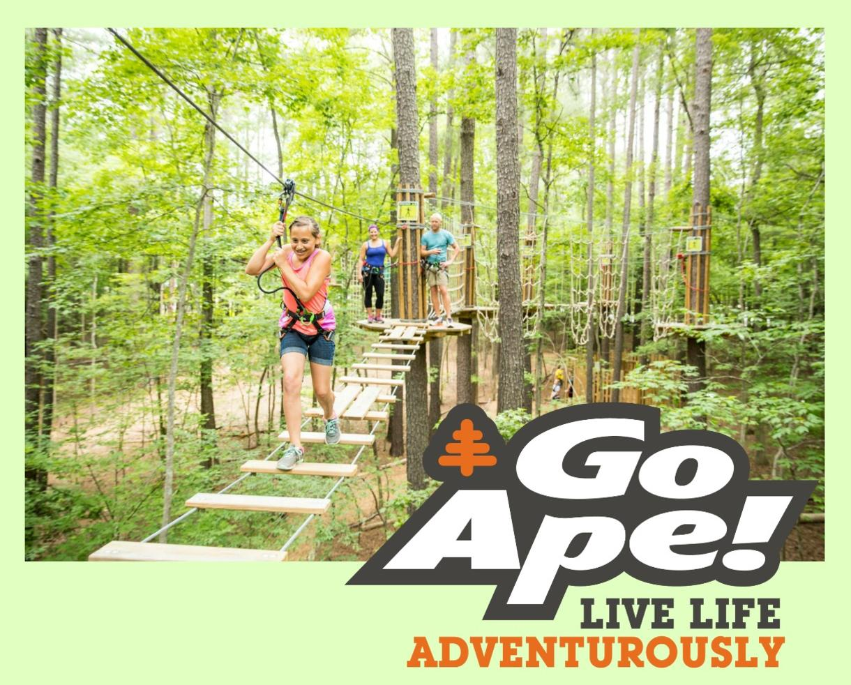$23+ for Go Ape Treetop Junior or Treetop Adventure - BRAND NEW Springfield, VA Location + All Other U.S. Locations!