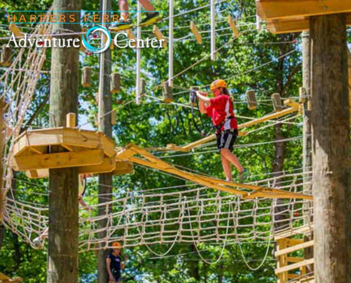 $220 for Summer STAY & PLAY Package for FOUR - Ropes Adventure Course and Cabin Getaway at Harpers Ferry Adventure Center - Ages 5+ ($295 Value - 26% Off)
