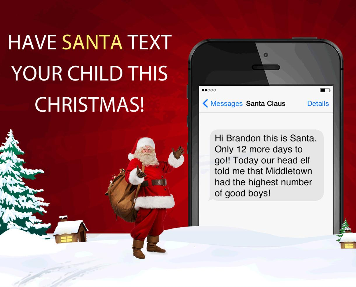 $5 For Daily Personalized Santa Texts Or Emails From Dec. 1 25 Including  Proof He Was In Your House! ($50% Off)