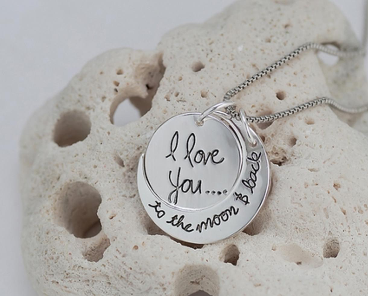 Deal 14 for i love you to the moon and back pendant necklace from 14 for i love you to the moon and back pendant necklace from monogram hub shipping included 69 off mozeypictures Choice Image