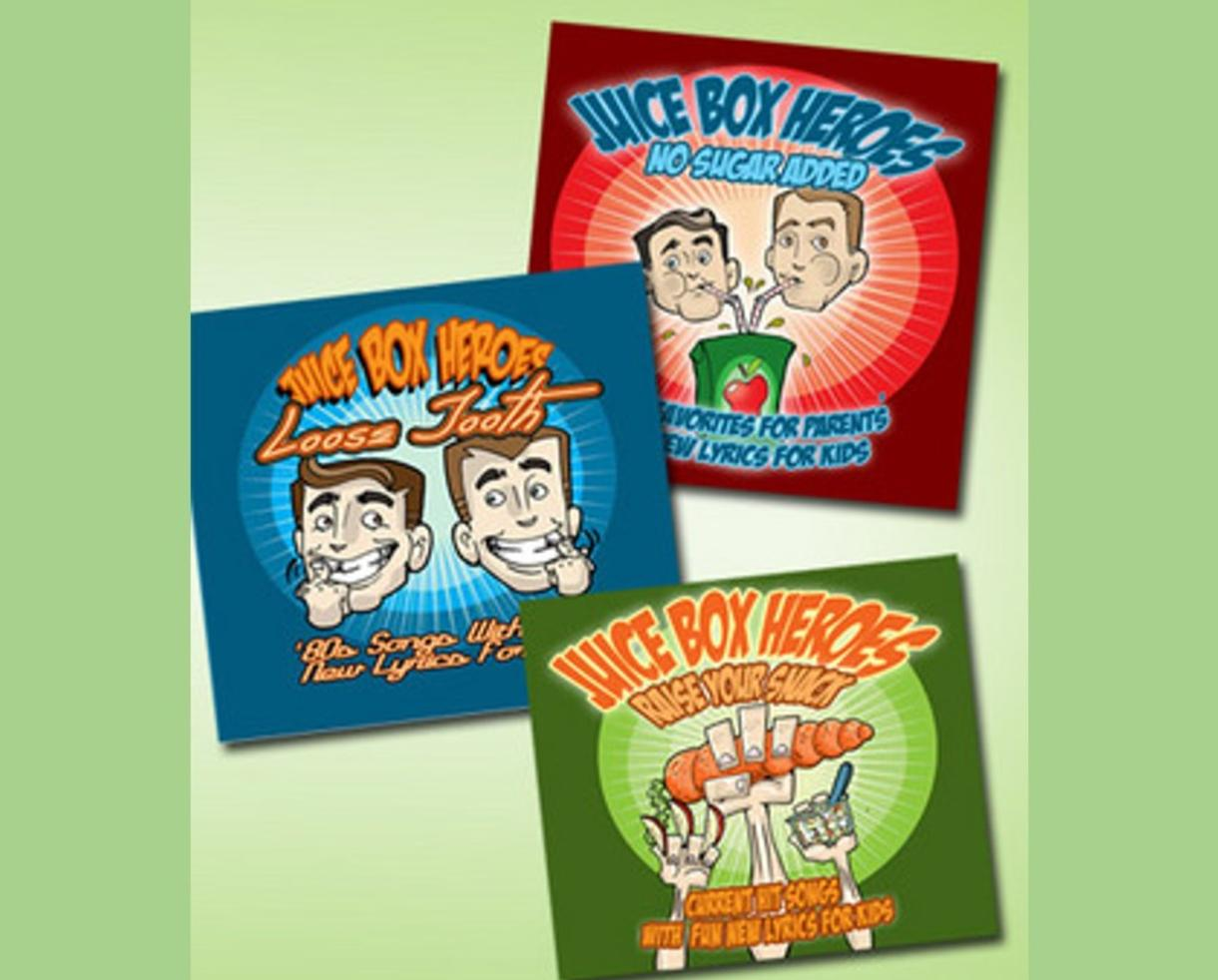 Children's Music 3 CD Box Set by Juice Box Heroes | CertifiKID