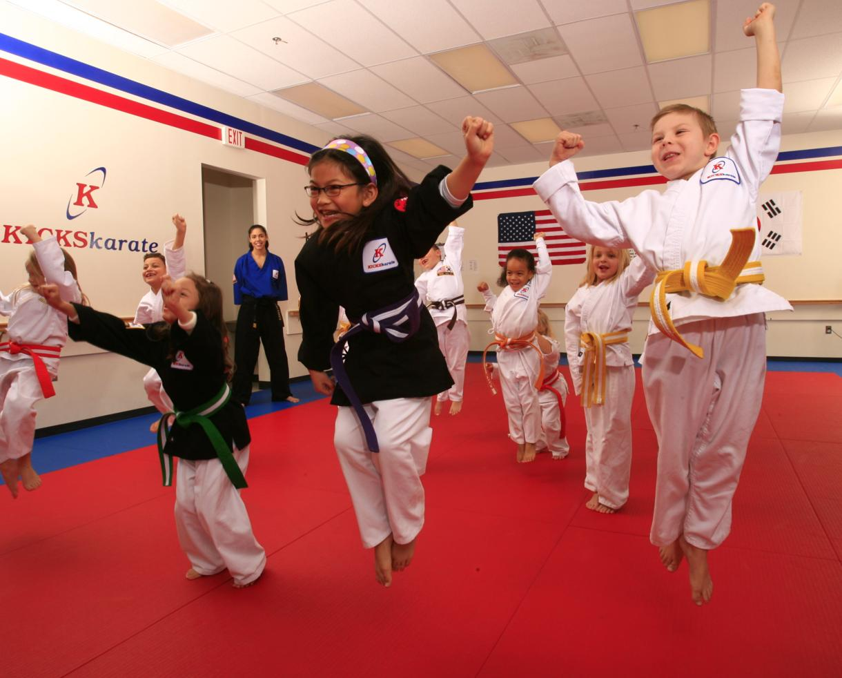 $49 for 1 Private, 3 Group Classes and a Gear Bag, Uniform and an Aluminum Water Bottle at Kicks Karate - 9 Locations! ($200 value - 76% off)