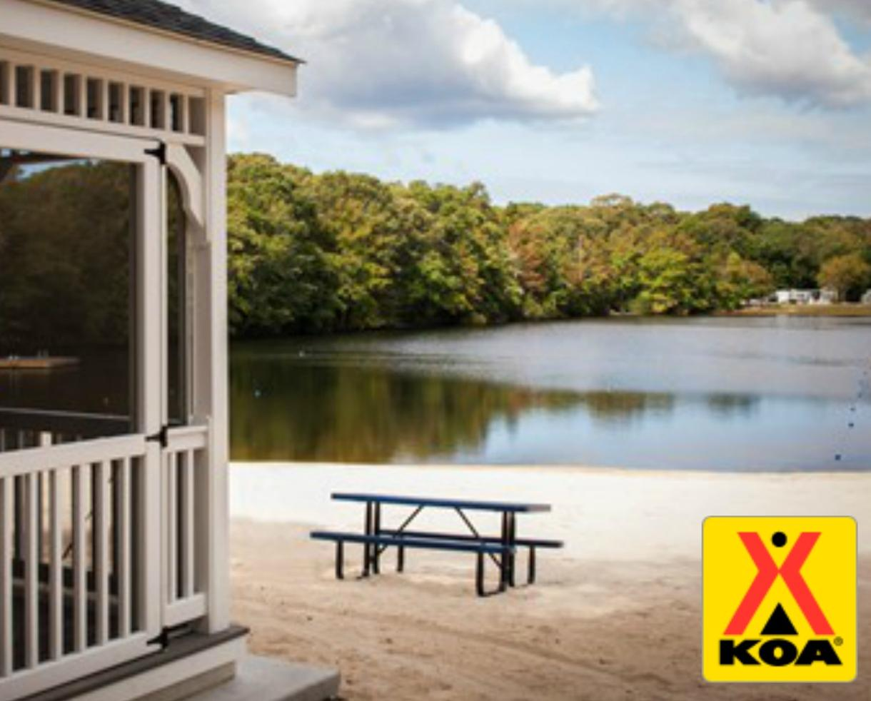 $49 for 2-Night Tent Site + Firewood OR $175 for Deluxe Cabin at Cape May KOA - New Jersey (Up to 38% Off)