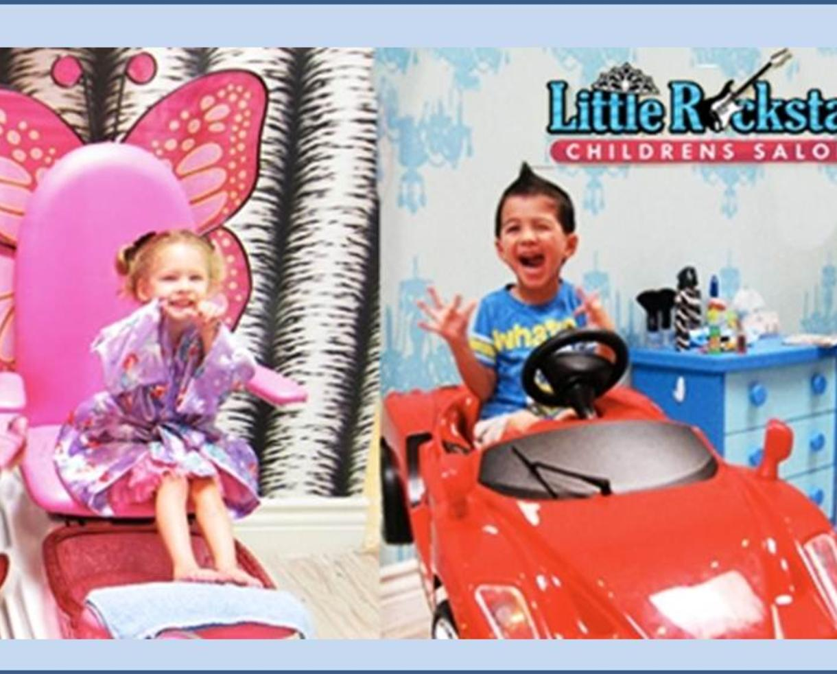 Kids haircut at little rockstar children s salon for A little off the top salon