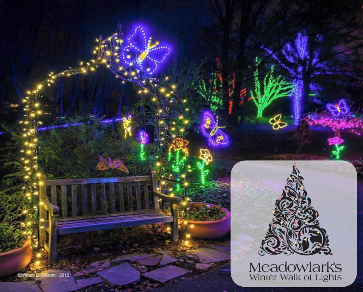 $16 for Meadowlark's Winter Walk of Lights Adult + Child Ticket: January 1 - 7, 2018 in Vienna, VA (31% Off)