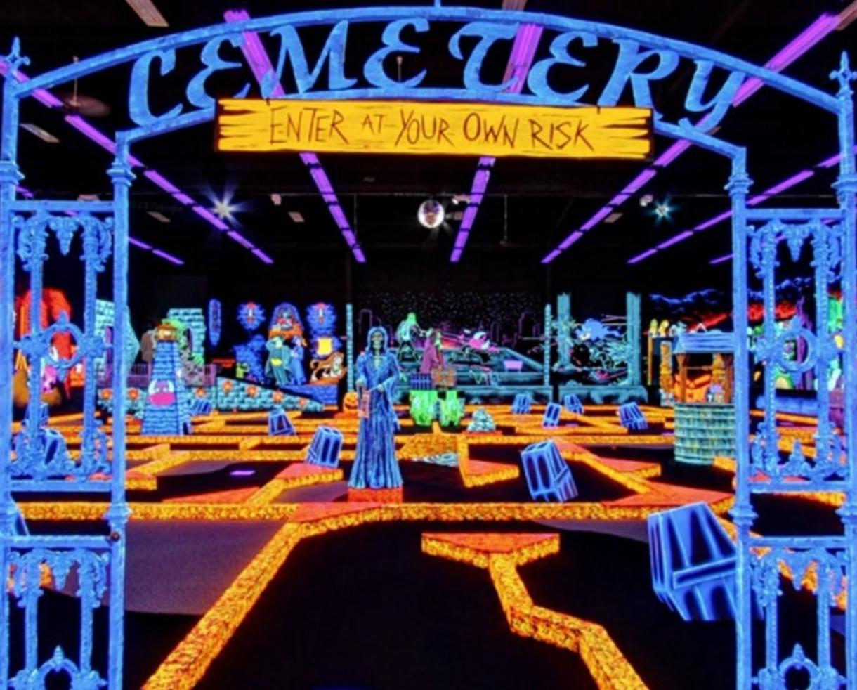 $20 for Four Rounds of Glow-in-the-Dark Golf at Monster Mini Golf Columbia + BIRTHDAY PARTY OPTION (Up to 65% Off)