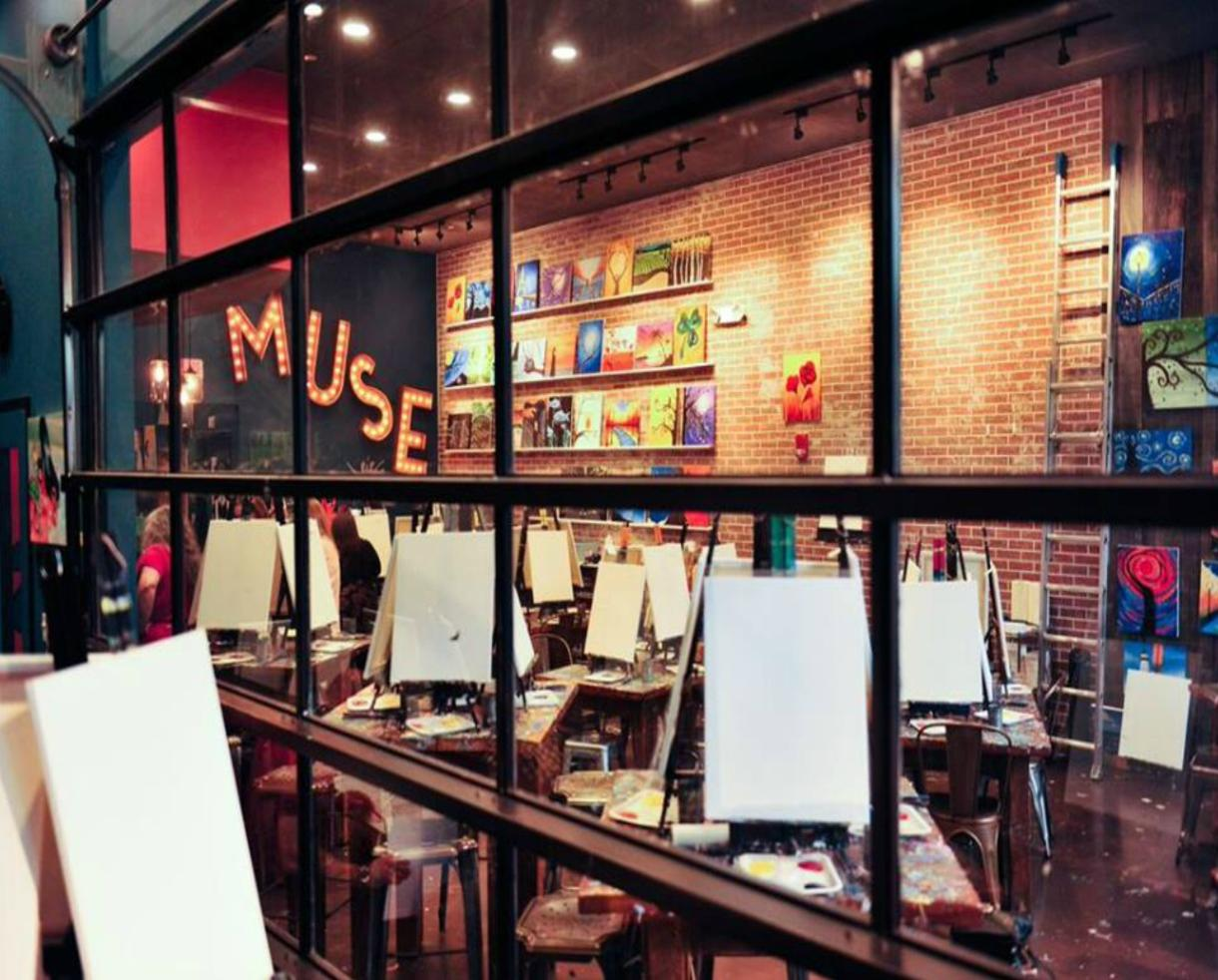 $19+ for Painting Session for One, Two or Four People - Kids or Adults! - at BRAND NEW Muse Paintbar National Harbor, MD or Gainesville, VA Locations + Party Option (Up to 54% Off)