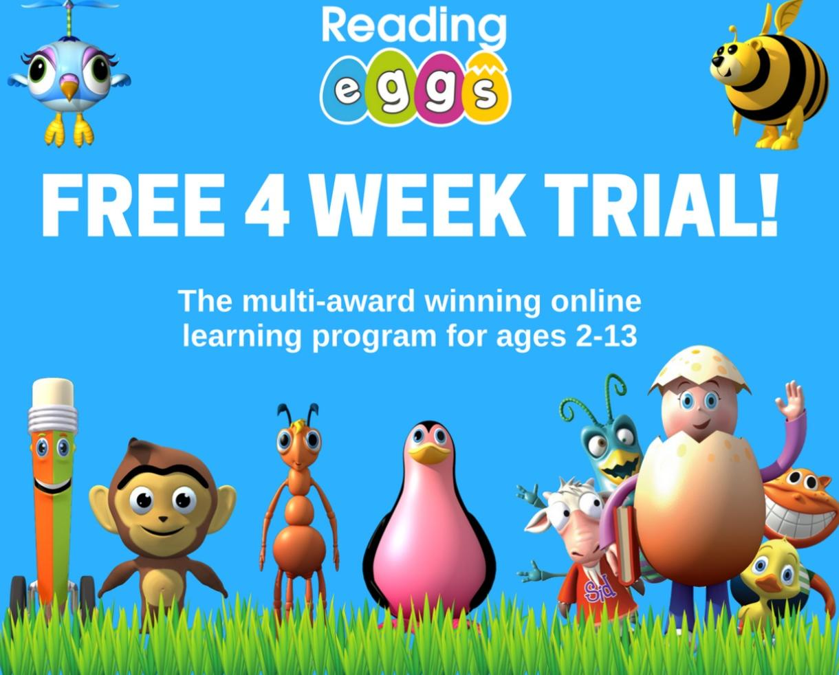 Learn to Read in 4 Weeks FREE with Reading Eggs!
