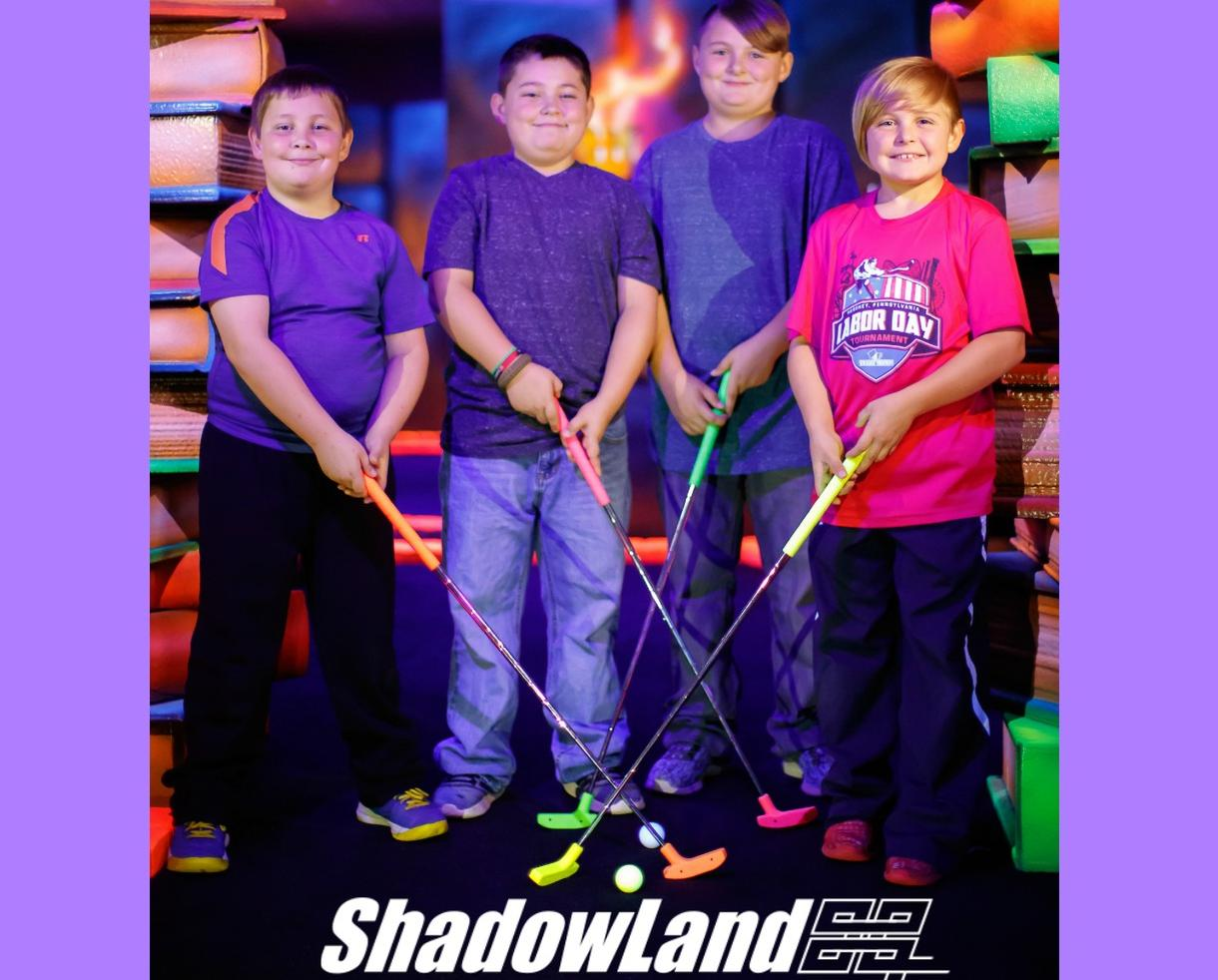 Glow Mini-Golf and Mega Arcade Birthday Party PLUS Mini-Golf Pass for Return Play at ShadowLand