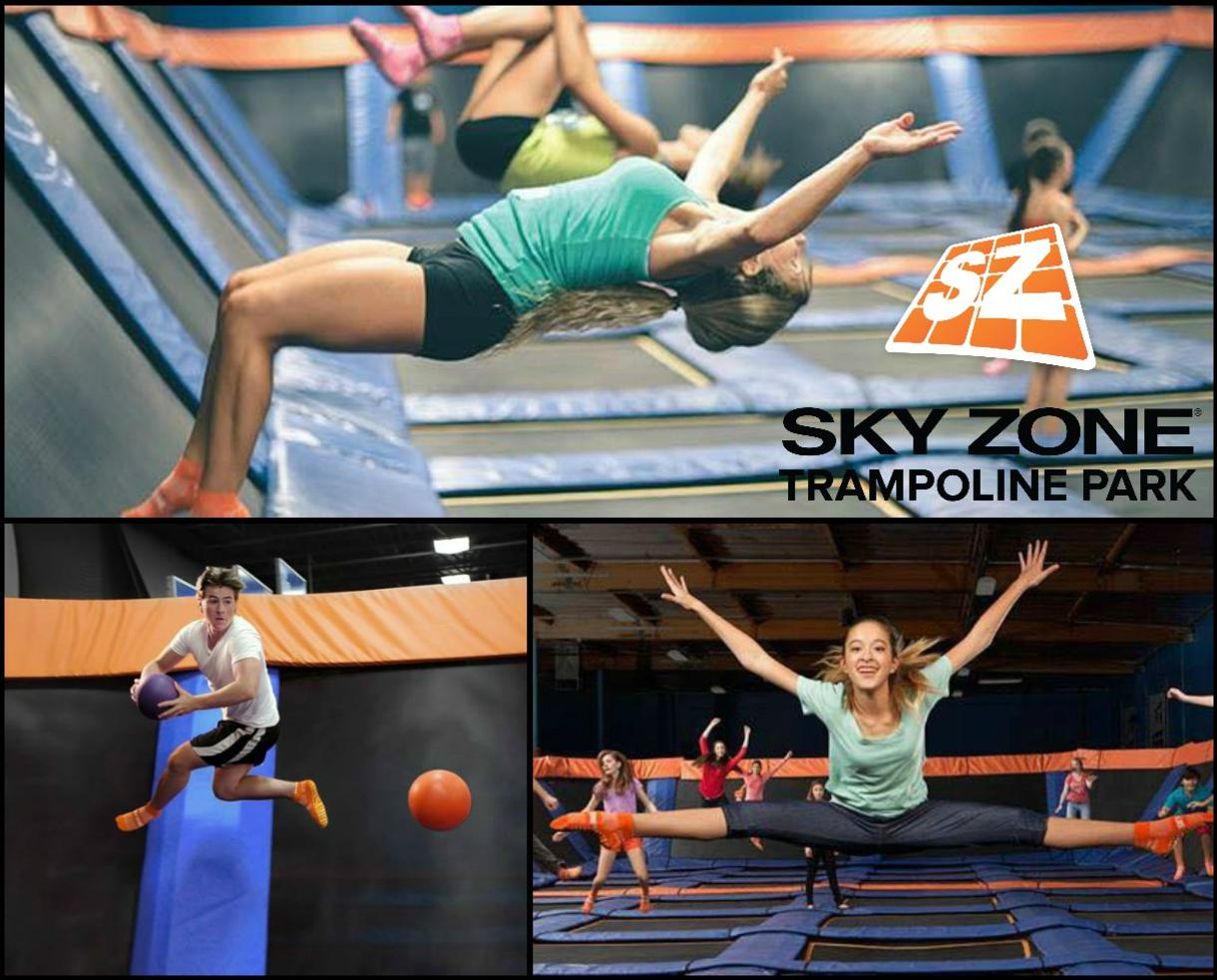 Valid Any Day!! $34 for THREE 60-Minute Jump Passes at SKY ZONE TRAMPOLINE PARK - Gaithersburg, Columbia, Manassas and Fredericksburg (Up to 35% Off)