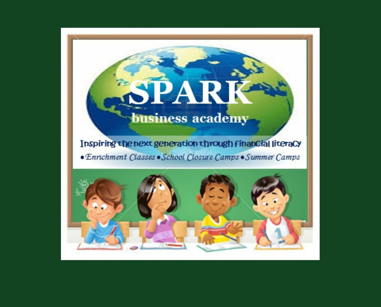 SPARK business academy Financial Literacy and Entrepreneurship Camps