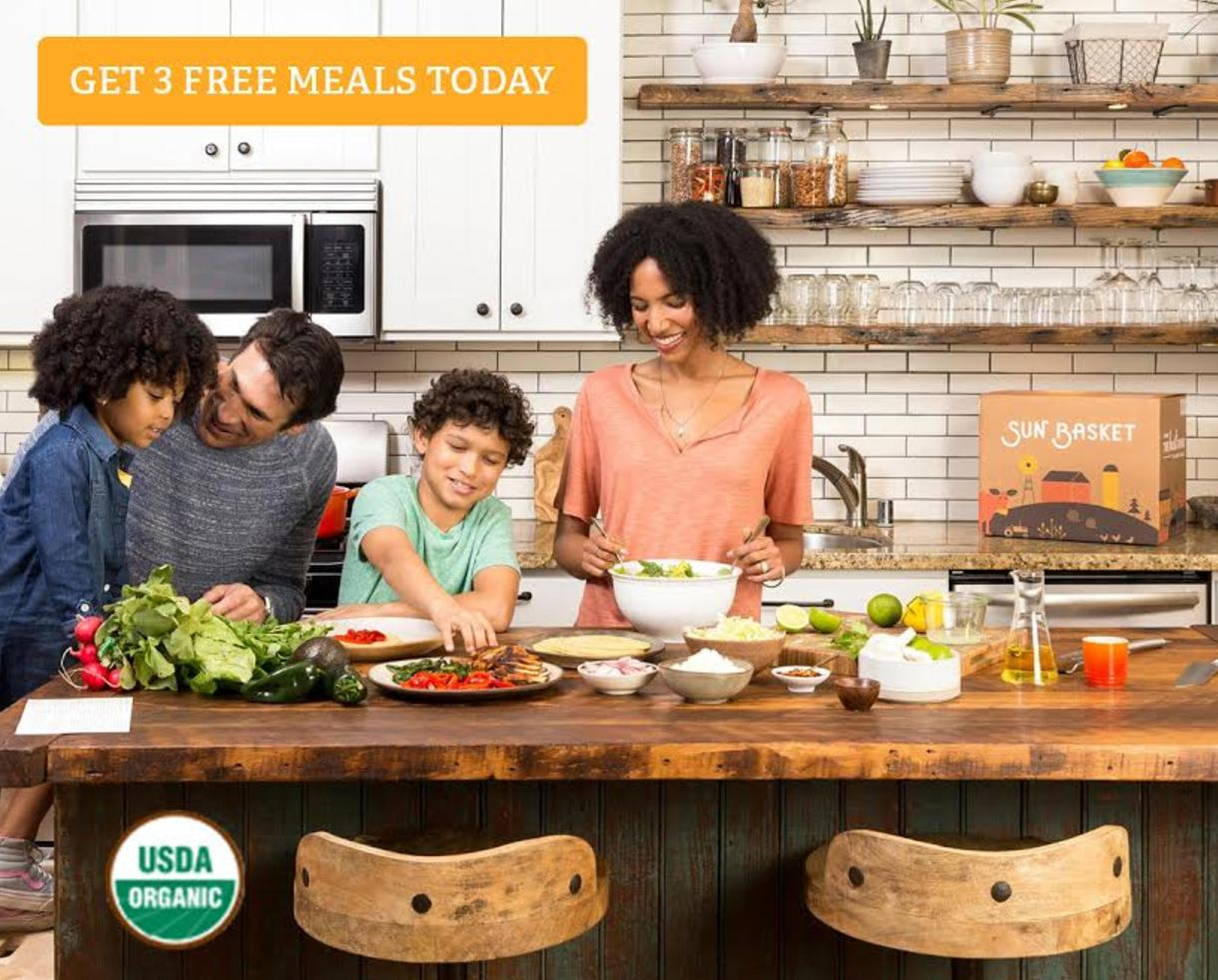 Three FREE Meals from Sun Basket - The Country's Top Organic & Non-GMO Recipe Delivery Service!