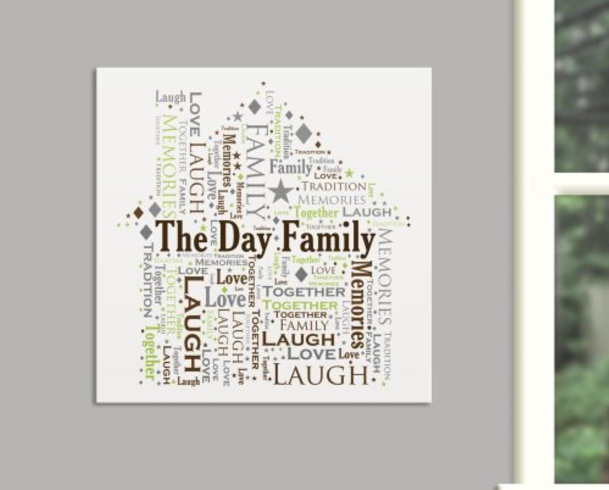 deal 30 for personalized typographic word art canvas get