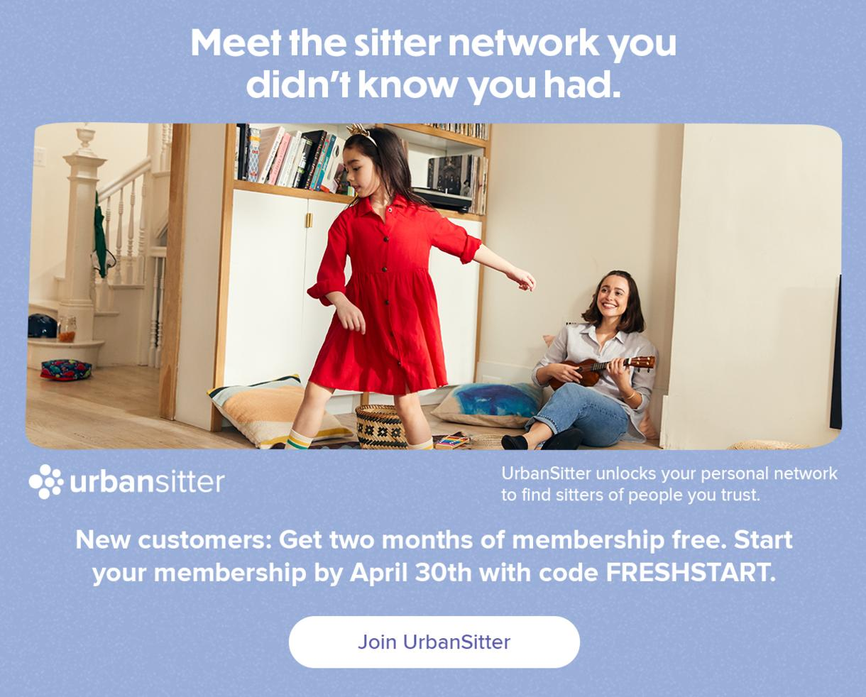 Save $40 on Sitters and Nannies with UrbanSitter!