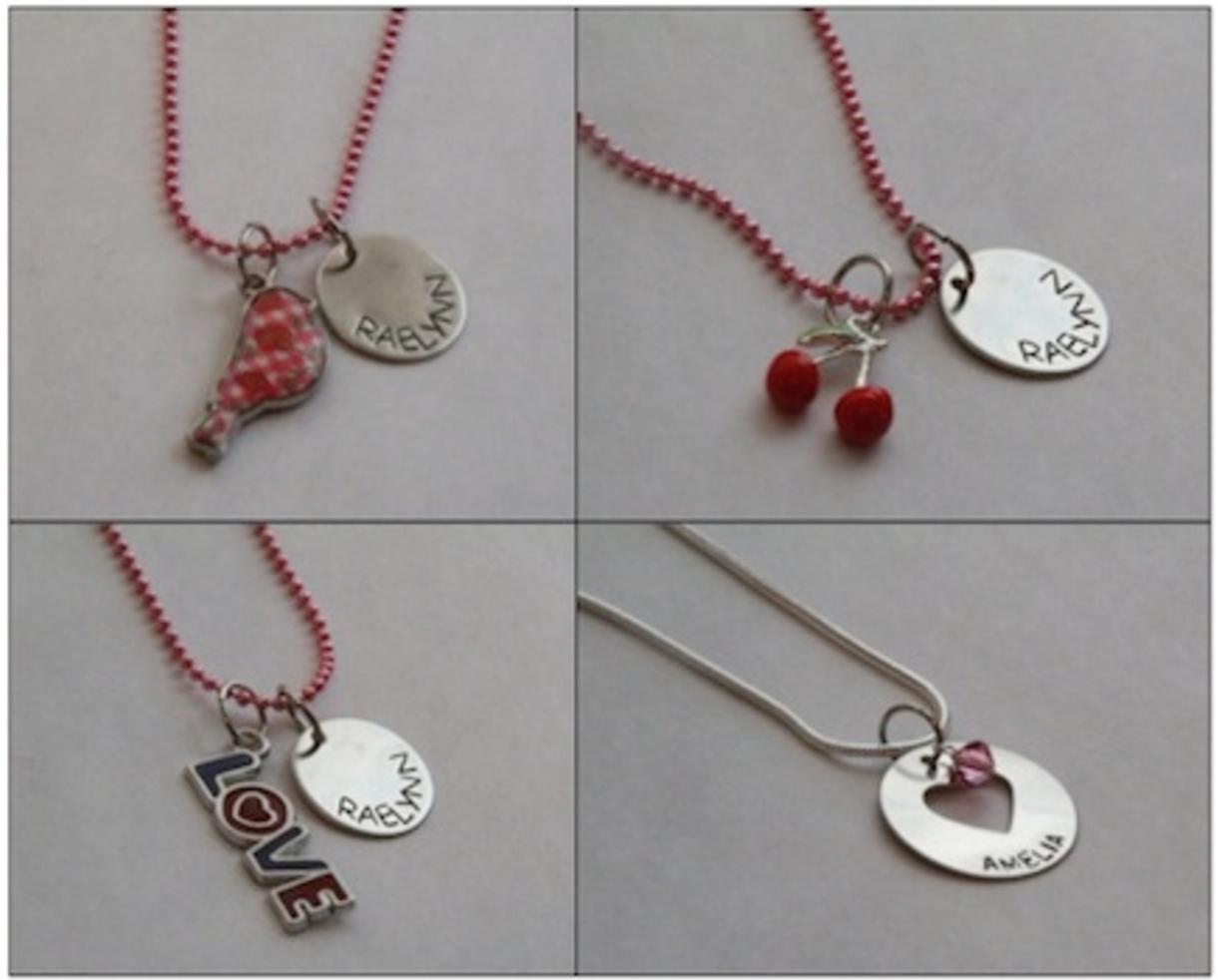 Personalized kid 39 s valentine 39 s day necklace shipped love for Valentines jewelry dallas pa