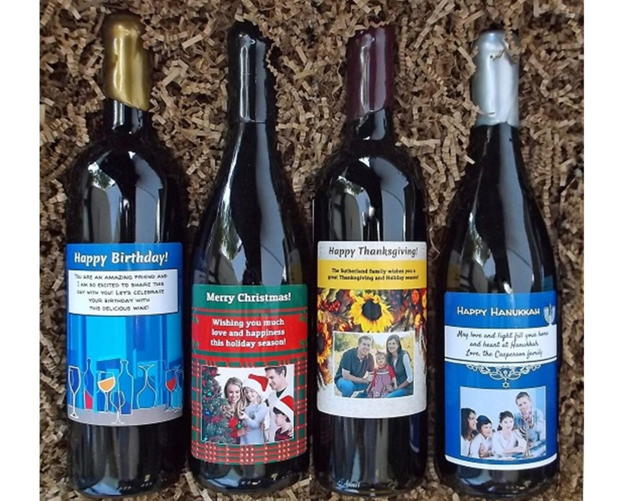 Deal 33 For Two Personalized Wine Bottles From Winegreeting