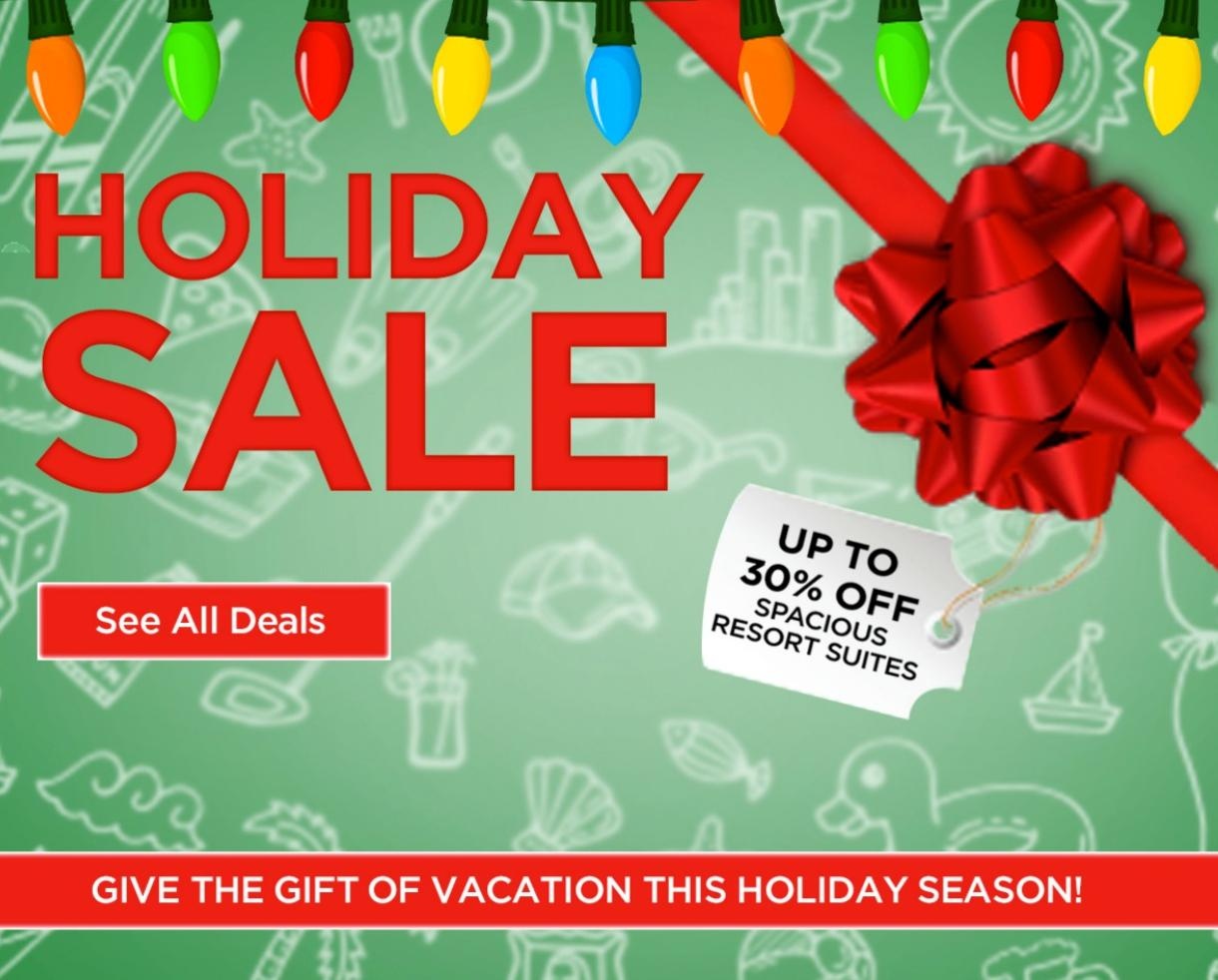 Give the Gift of Vacation – Wyndham Extra Holidays Sale – Resort Savings Up to 30% Off!