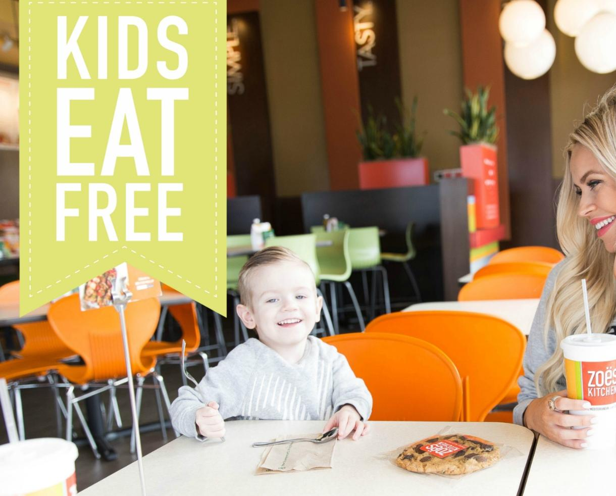 FREE Kid's Meal With the Purchase of a Regular Entrée at Zoës Kitchen