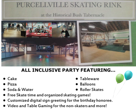 $99 for an ALL INCLUSIVE Weekday Party for 10 at Bush Tabernacle Skating Rink (34% off a $150 value)
