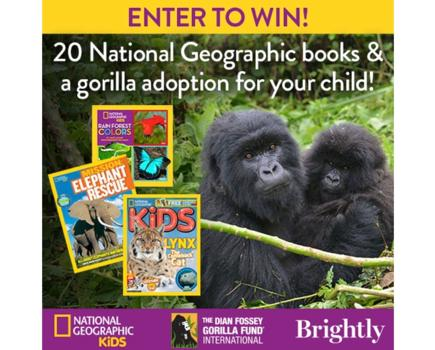 ENTER NOW! Win 20 National Geographic Books & A Gorilla Adoption For Your Child ($400 Value)