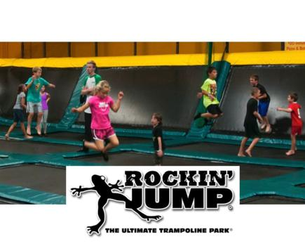 $12 for 1 Hour BRAND NEW ROCKIN' JUMP TRAMPOLINE PARK Open Jump Session in Gaithersburg - Party Option Too! ($16 Value)