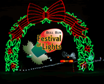 $10 for Bull Run Festival of Lights Weekday Admission for One Car - Nov. 21st thru Dec. 6th in Centreville