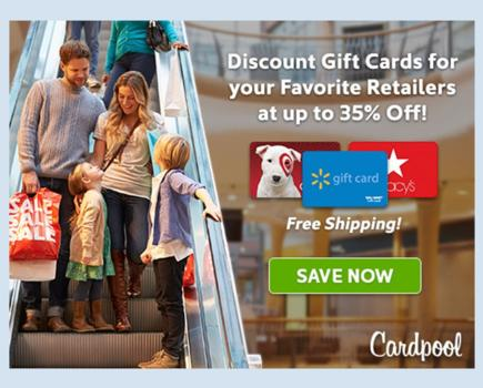 Deep Discounts on Gift Cards to Target, Macy's, Starbucks & Tons More + Extra $5 Off!