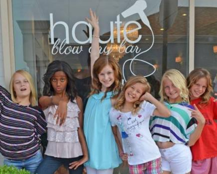 $280 for Girls' Spa Party - Blow Out and Styling + Manis & More! Haute Blow Dry Bar - Towson ($450 Value - 38% Off)
