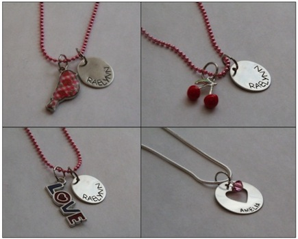 $15 for Personalized Kid's Valentine's Day Necklace Shipped - Love Bird, Cherries, Love, or Washer Charm (32% off)