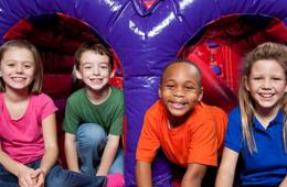 $20 for BounceU FIVE-PASS - Clarksburg/Germantown or Rockville (50% Off!)