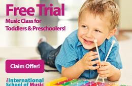 FREE Toddler/Preschool Music Class at the International School of Music