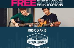 FREE GUITAR or Piano Coupon With Music Lessons at Music & Arts During Open House Weekend!