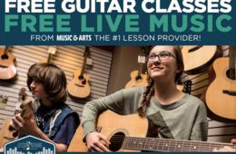 FREE GUITAR CLASSES and FREE LIVE MUSIC at Music & Arts - The Nation's Largest Music Lesson Provider