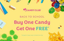 Candy Club: Buy One Cup, Get One Free