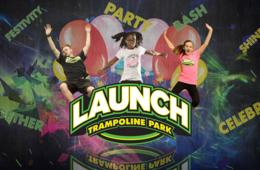 Two 60 Minute Open Jump Passes at Launch Trampoline Park Herndon