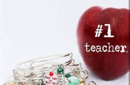 $7.99 for Personalized Teacher Charm Bracelet - Free Shipping! ($19.98 Value - 61% Off)