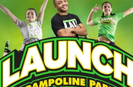 One 60 Minute Open Jump Passes at Launch Trampoline Park Herndon
