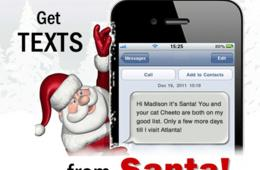 $5 for Daily Personalized Santa Texts or Emails - Everyday until December 25 ($10 Value - 50% Off)