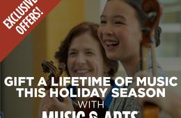 Gift Music This Season with Exclusive Lesson Offers from Music & Arts!