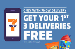 Get the 7NOW™ App and get your First 3 Deliveries FREE!