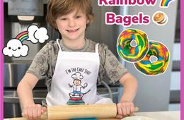 Spring Adventure DIY Rainbow Bagels Kit From I'm The Chef Too!