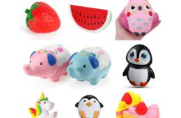 10 Squishy Toys for $19.99 - Great Holiday Gift and Stocking Stuffer! Get a Variety of Shapes and Sizes! (51% Off)